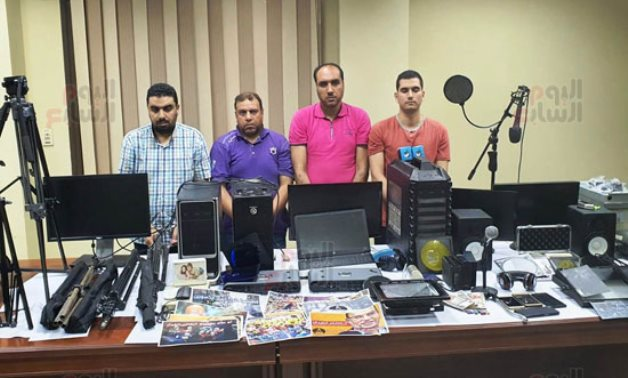 Terrorist cell arrested in Alexandria over airing fabricated video on Egypt - Press photo