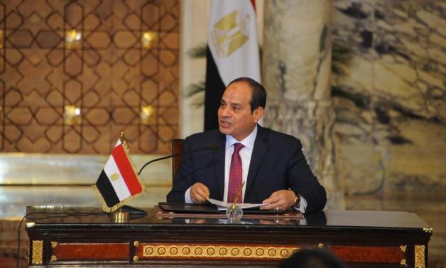 President Abdel Fattah El-Sisi in a press conference in 2017- Press photo