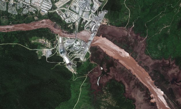 A handout satellite image shows a view of the GERD and the Blue Nile River in Ethiopia June 26, 2020. Picture taken June 26, 2020. Satellite image ©2020 Maxar Technologies via REUTERS