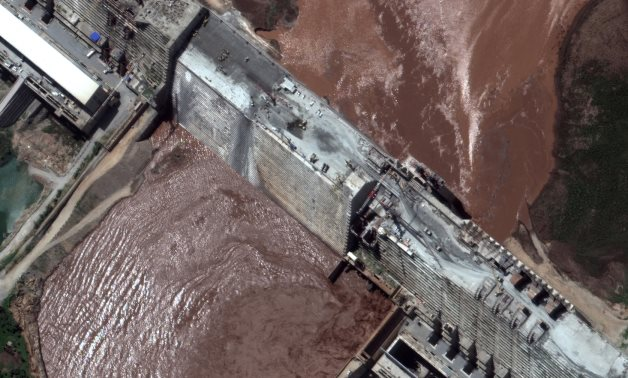 A satellite image of GERD - Reuters