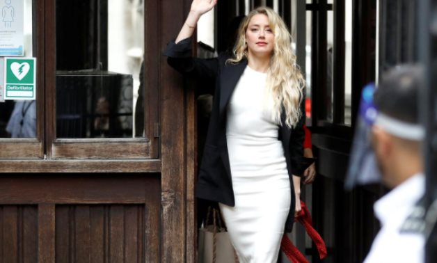 Actor Amber Heard arrives at the High Court in London, Britain July 27, 2020. REUTERS/Peter Nicholls