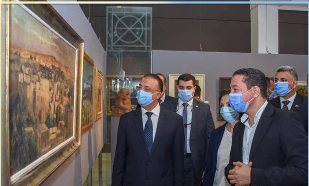 Alexandria's Governor tours the exhibition after its inauguration on July 26 - ET