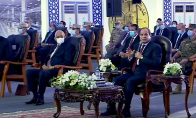 President Abdel Fattah el-Sisi during the inauguration of Rubiki industrial zone on July 28, 2020 - Still image from Youtube