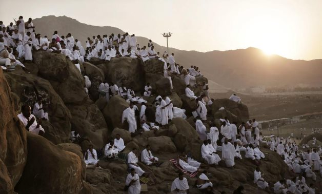 Muslim pilgrims gather on Mount Arafat during Hajj - Press photo