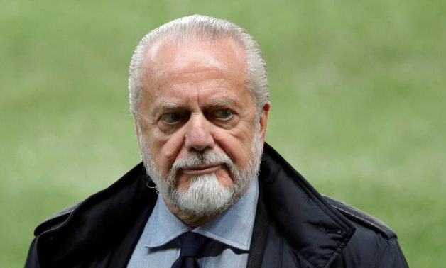 Napoli president Aurelio De Laurentiis during training REUTERS