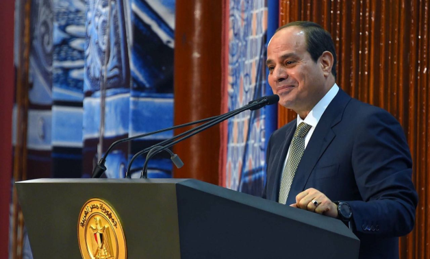 President Abdel Fattah El-Sisi in a press conference in June 2018- press photo