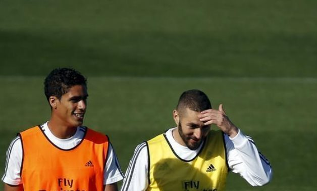 Varane and Venzema, Madrid, Spain, REUTERS/Susana Vera