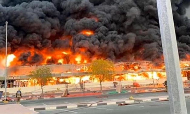 Huge fire breaks out at market in UAE's Ajman