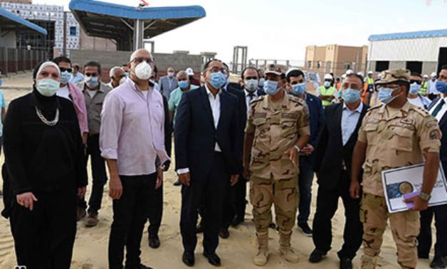 Prime Minister Mostafa Madbouli in a visit to a wholesale marketplace for fruits and vegetables in Alexandria's Borg Al Arab on August 5, 2020. Egypt Today
