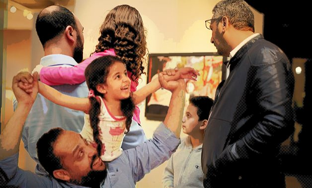 "Part the of the photo exhibit ""Because I am a Father: Egyptian and Swedish Dads"" featuring photos from Egypt and Sweden, portraying the universal role of fatherhood. Photo compiled by Egypt Today"