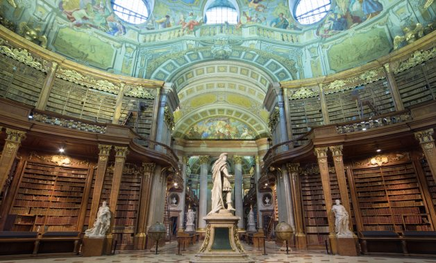 State Hall of the National Austrian Bibliotheque          (ÖNB)- photo courtesy of the ÖNB