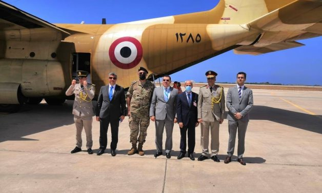 The second Egyptian plane with medical aid arrived in Lebanon Saturday morning and was received by the Egyptian ambassador to Lebanon Yasser Alawi and some Lebanese officials