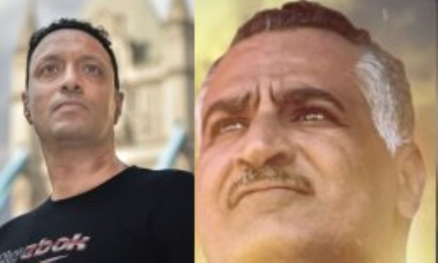 File: A complied photo for Fabio Abraham and Gamal Abdel Nasser.