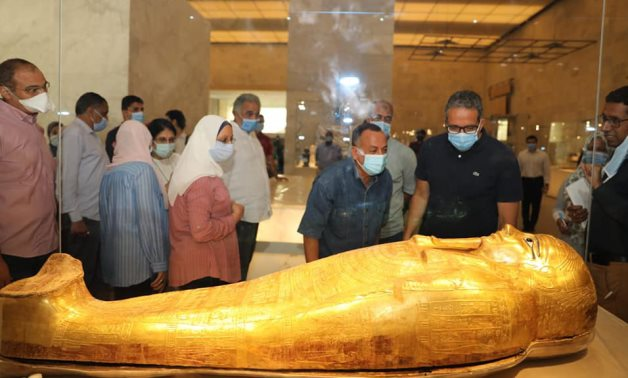 Egypt's Mi. of Tourism & Antiquities during a recent inspection tour to the NMEC in Fustat - Min. of Tourism & Antiquities