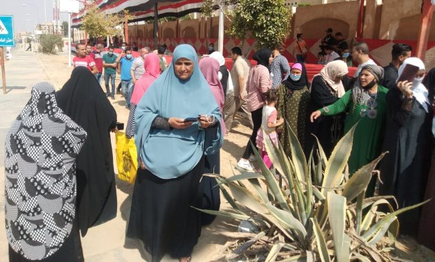 Citizens casting their ballots in the Senate elections - Egypt Today