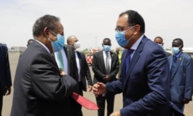 Dr. Mustafa Madbouly, Prime Minister, and Dr. Abdullah Hamdok, Prime Minister of Sudan