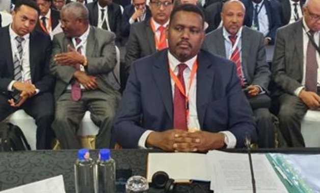 Ambassador Markos Tekle Rik at the 9th Summit of Heads of State and Government of the Africa, Caribbean, and Pacific Group of States in Kenya- photo courtesy of the Ethiopian Foreign Ministry in December 2019.