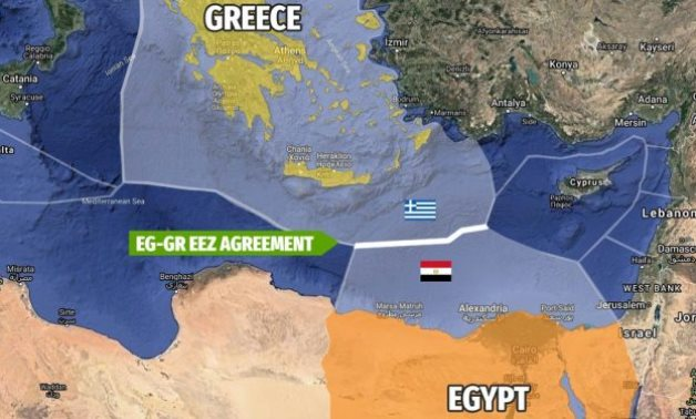Map showing demarcation of Egyptian-Greek maritime borders in the Mediterranean - Wikimedia Commons