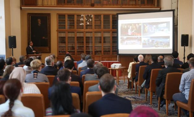 Anani reviews latest discoveries, openings and new archaeological projects in Egypt at Charles University in Prague - Photo via Egypt's Min. of Tourism & Antiquities
