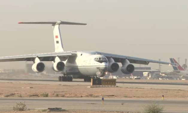 FILE - Egypt sends a second military plane carrying medical aid to South Sudan – Egyptian Ministry of Defense, May, 2020