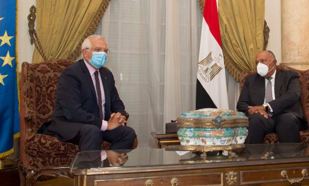 Egyptian Foreign Minister Sameh Shoukry (R) meets with Josep Borrell, the European Union's high representative for foreign affairs – Press photo