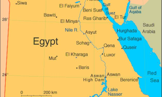Map of Egypt - Red Sea governorate official website