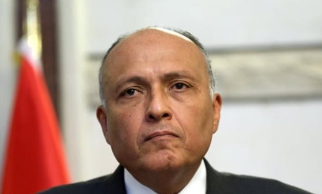 FILE - Egypt's minister of foreign affairs Sameh Shoukry - Reuters