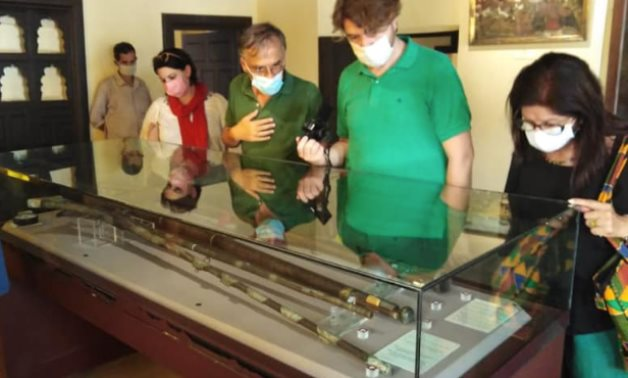 During the visit to the Rasheed National Museum - photo via Egypt's Min. of Tourism & Antiquities