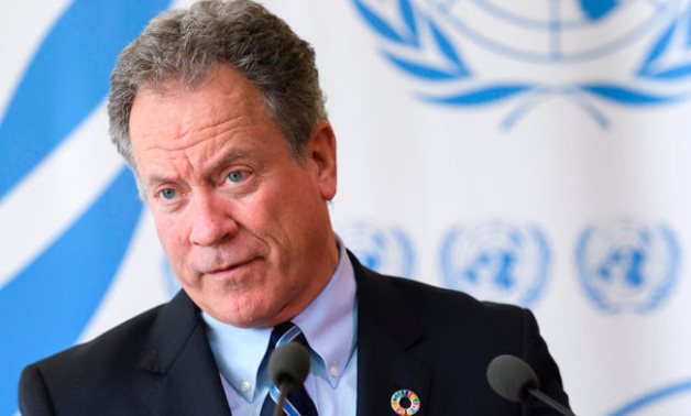 The new head of the World Food Programme (WFP) David Beasley, delivers a press conference about an updated aid appeal for South Sudan on Monday at the United Nations Office in Geneva. (AFP)