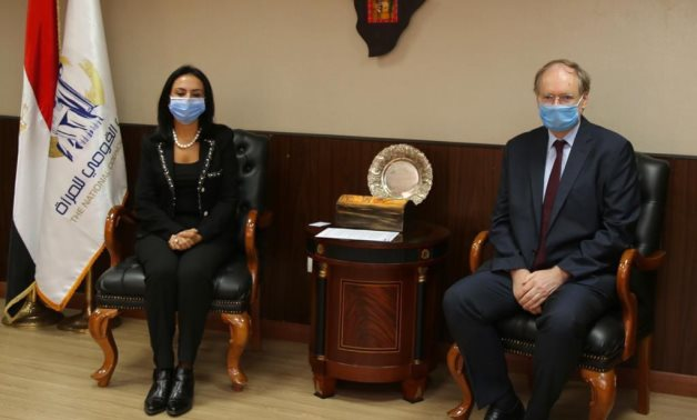 New head of the European Union delegation to Egypt Christian Berger meets with head of the National Council for Women Maya Morsy – Press photo