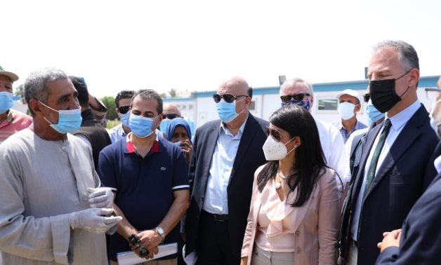 Egyptian Minister of International Cooperation, Dr. Rania Al Mashat, visits a number of development programmes in partnership with USAID in Luxor- press photo