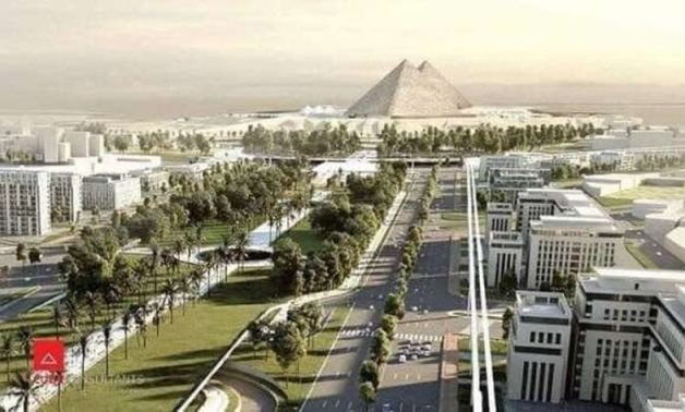Imaginary photo of the Giza Pyramid's surrounding area once development works are completed - ET