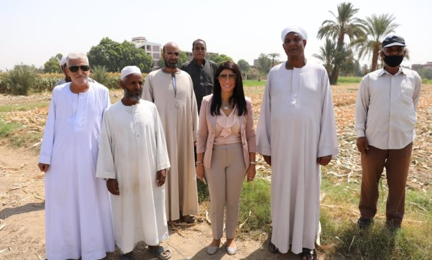 Minister of International Cooperation, Dr. Rania Al Mashat, visited a Sun Drying Tomato Unit project in Baghdadi village in Luxor