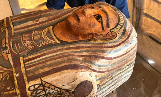 File: one of the newly uncovered coffins.