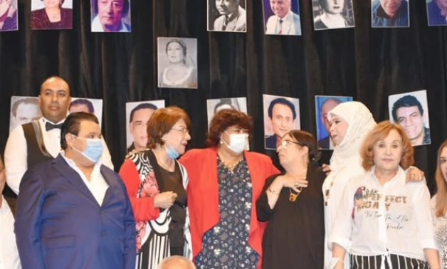 Egypt's culture min. Inas Abdel Dayem [M] during the celebration - photo via Egypt's Min. of Culture