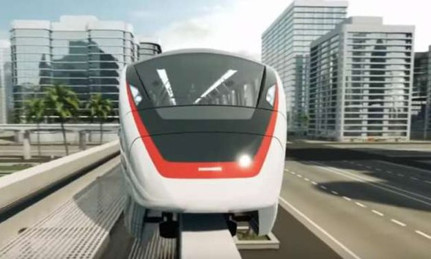 A previously-published design for the monorail project in Egypt