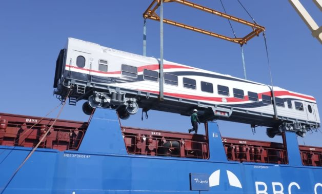 """New batch of train vehicles as part of agreement with """"Russian-Hungarian"""" Transmach Holding Company arrives in Alexandria - FILE"""