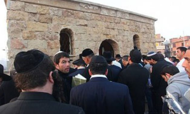 FILE-  A group of Jewish pilgrims visit the shrine of Jewish-Moroccan Rabbi Yaakov Abuhatzeira in the Egyptian city of Damanhour in Beheira governorate (Delta)- Youm7