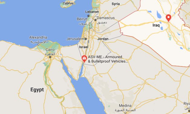 A map of Egypt, Jordan, and Iraq- Screenshot from Google Maps- Egypt Today