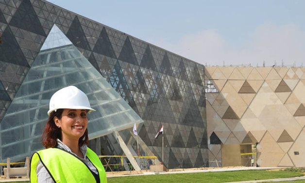 Part of the Grand Egyptian Museum Facade - press photo