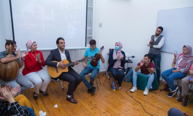 Austrian Linguistic Institute celebrate 1st year of cultural exchange program with Egypt - Press photo