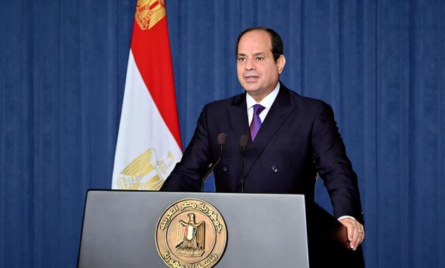 FILE - Egyptian President Abdel Fattah El Sisi gives a speech at the United Nations Summit on Biodiversity – Presidency