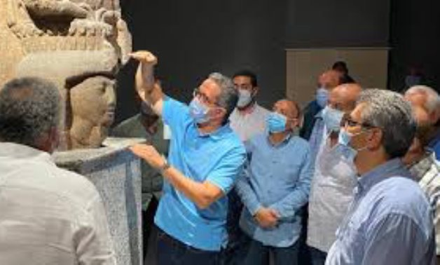 Egypt's Min. of Tourism & Antiquities during an inspection tour to the Sharm el-Sheikh Museum - Photo via Egypt's Min. of Tourism & Antiquities