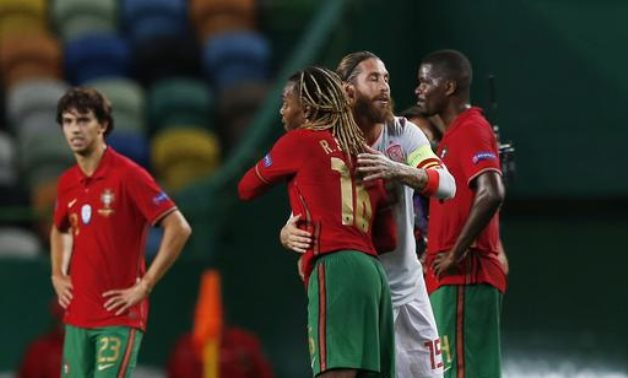 Wednesday's friendly match between Spain and Portugal ended with a draw, Reuters