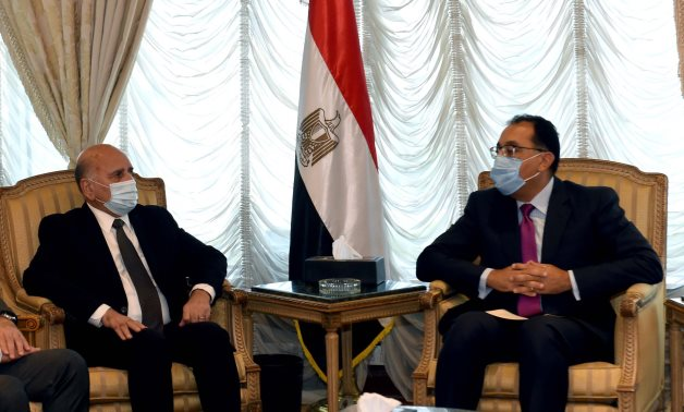 Egypt's Prime Minister Mostafa Madbouli meets with Iraqi Foreign Minister Fuad Hussein – Egyptian Cabinet