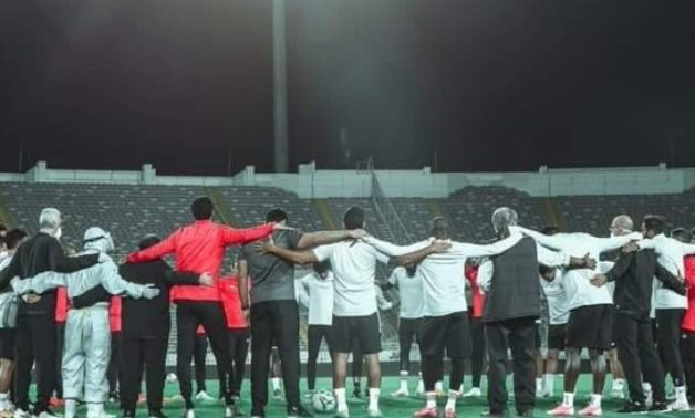 File- Al Ahly's last training session in Morocco, Al Ahly's official Twitter account