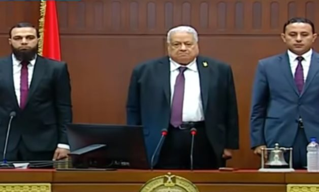 Members of the Egyptian Senate at its inaugural session on 18 October 2020 - Youtube still