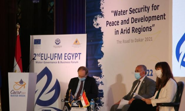 The second European Union (EU), Union for the Mediterranean (UfM) Egypt Water Governance and Business Forum on Monday in Cairo, on the sidelines of the third edition of the Cairo Water Week (CWW) - press photo