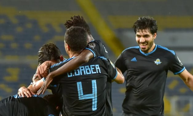 File- Pyramids players celebrate the victory