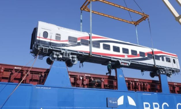 FILE - A new batch of Transmashholding railcars arrives in Egypt's Alexandria port - press photo